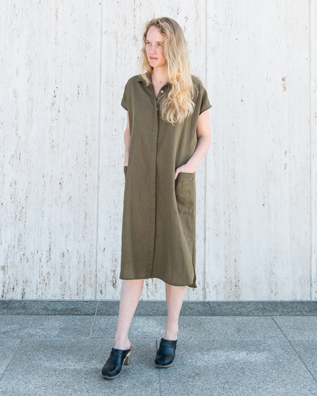 Esby DARBY SHIRT DRESS - OLIVE