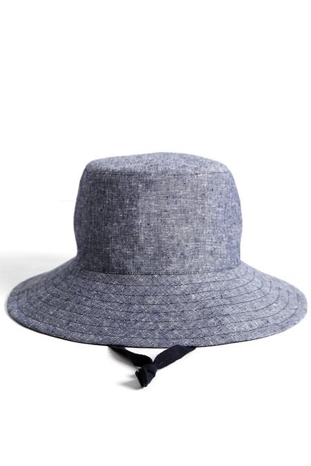 Tsuyumi Linen Chambray Mid Brim Hat