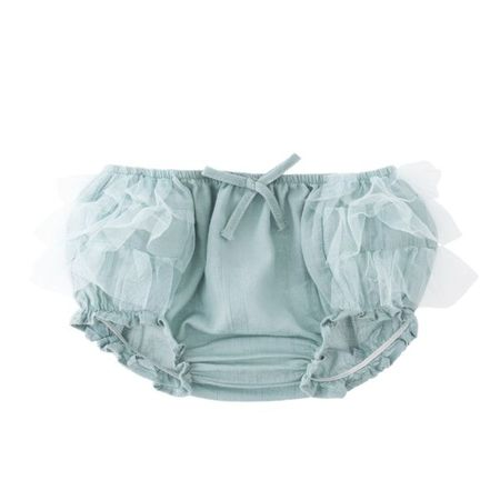 TOCOTO Tulle-Bloomer-In-Green
