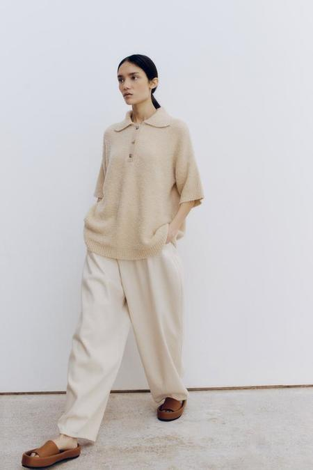 Mónica Cordera Baggy Pants - Natural
