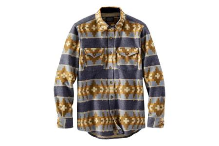 Pendleton La Pine Overshirt - Banded Stripe Navy Mix