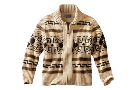 Pendleton The Original Westerley Sweater - Tan Brown