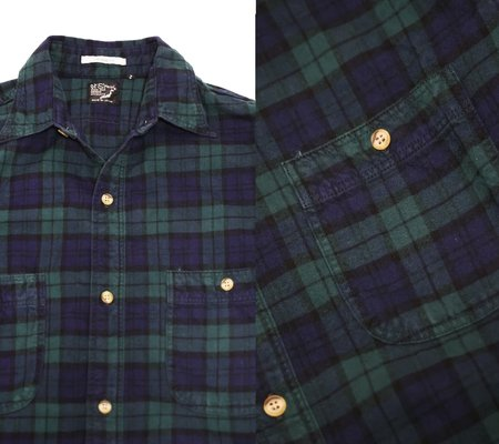 Orslow Vintage Fit Work Shirt - Green Check