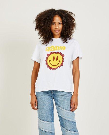 Ganni Basic Cotton Jersey T-Shirt - White