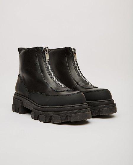 Ganni Calf Leather Boots - Black