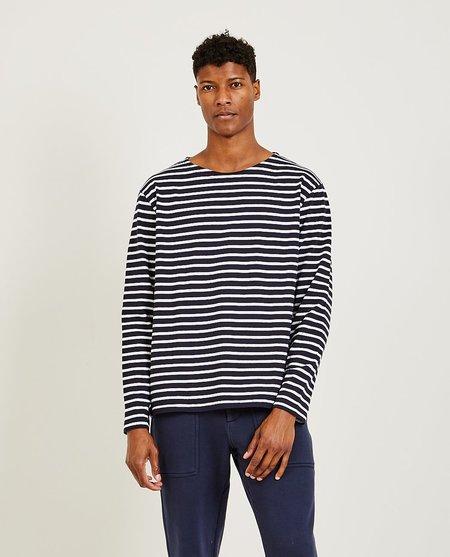 Alex Mill Deck Long Sleeve Stripe Tee - NVY/IVOR