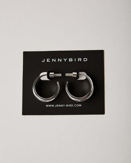 Jenny Bird Pleated Hoops - Silver