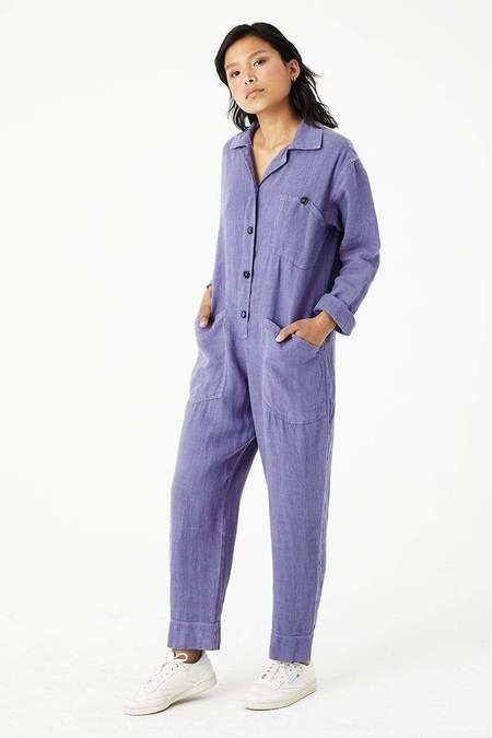 Back Beat Co. Linen Utility Jumpsuit - Heron