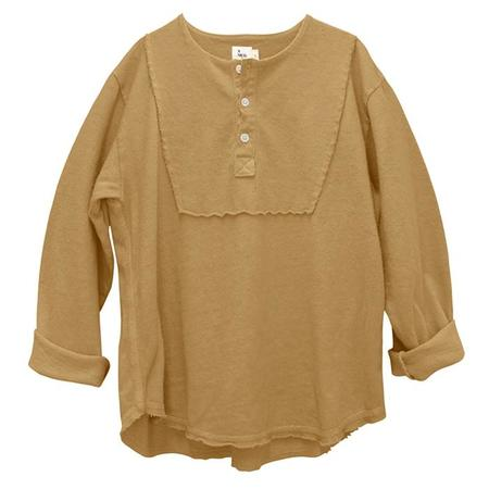 Kids Nico Nico Antoni Henley T-shirt - Camel Brown
