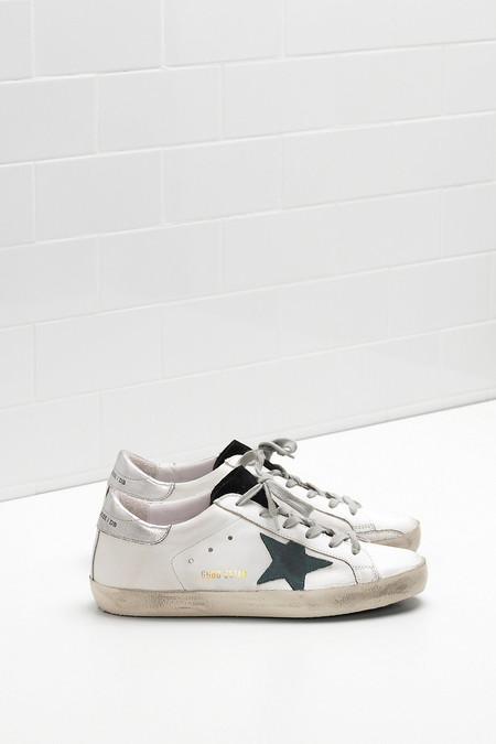 Golden Goose SUPERSTAR SNEAKERS WITH PETROLEUM STAR