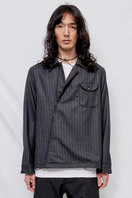 And Austin Wool Zip Overshirt - Charcoal