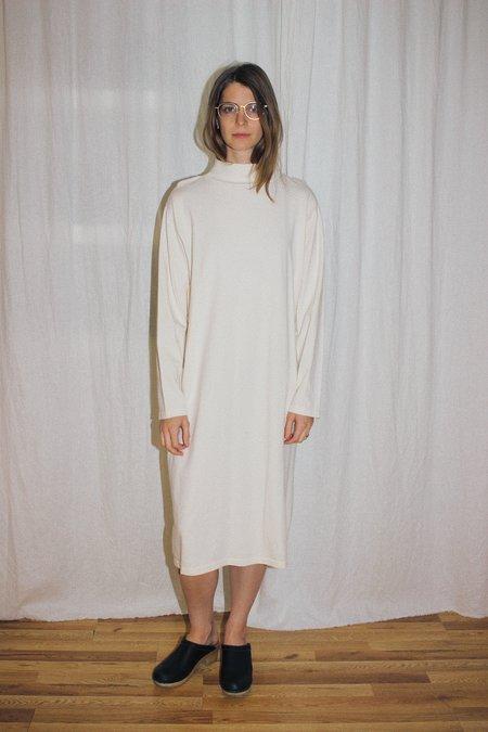 Wol Hide Mockneck Dress - Natural