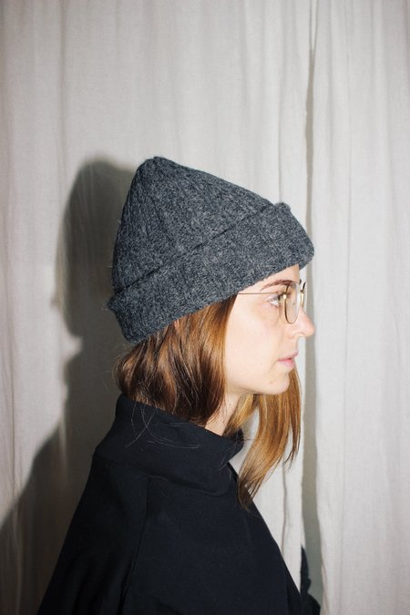 Wol Hide Rib Hat - Charcoal