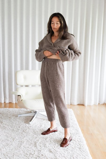 Mónica Cordera Soft Wool Coat - Deep Taupe