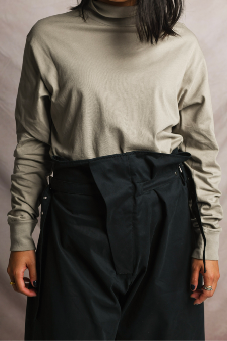 Lady White Co. Jersey Turtleneck - Taupe