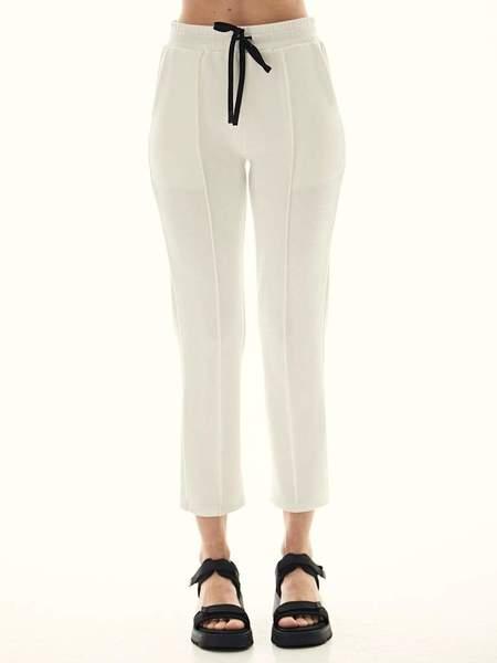 Lanston Sport Kenzie Pintuck Pant - Cream