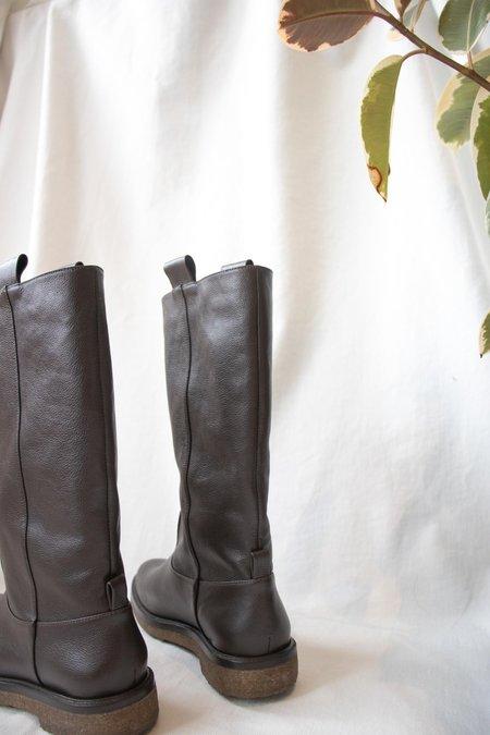 Mari Giudicelli Garden Boot in Café Calfskin