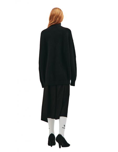 Balenciaga Wool high neck sweater - black