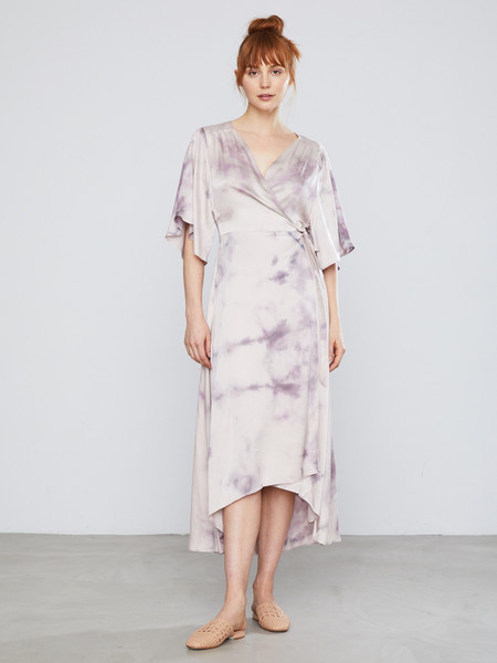 Upstate Wrap Dress in Paloma