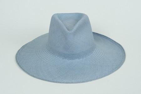 Clyde Wide Brim Pinch Panama Hat in Sage
