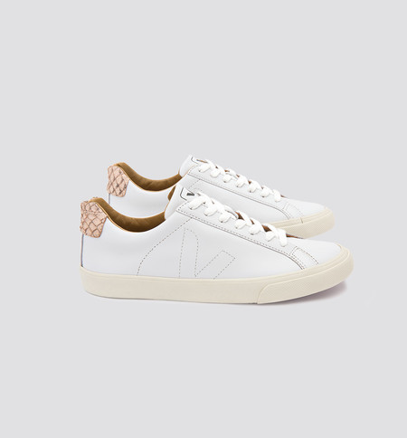 VEJA Esplar Leather Tilapia White Beige