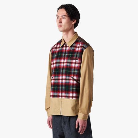 Junya Watanabe Checkered Zip Shirt - Multi