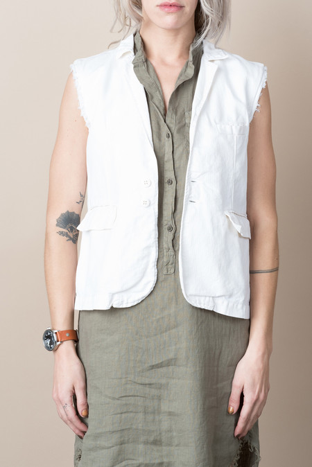 NSF Kaiden Fitted Vest In Optic White