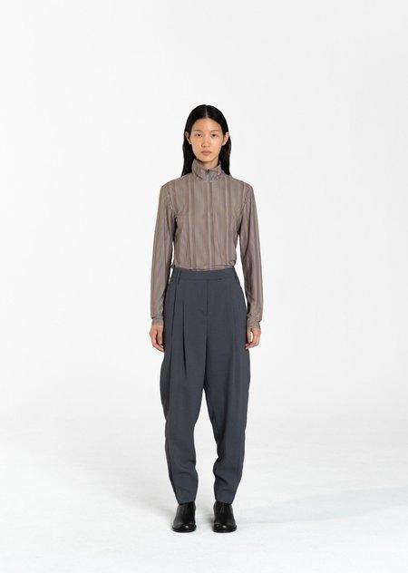 AMOMENTO Pegged Wide Pants - Black