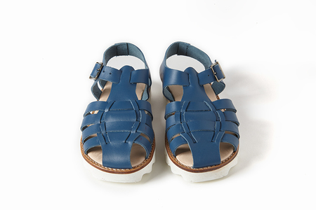 Sonatina Bobo-Blue-Leather-Sandals