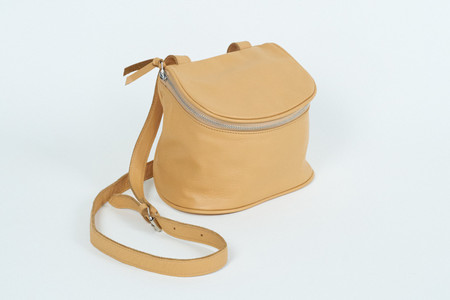 Clyde Camera Bag in Apricot Leather