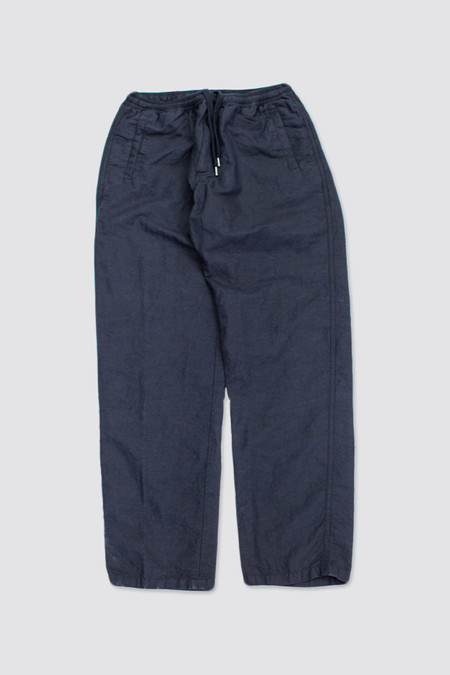 Our Legacy Relaxed Trousers Washed Black Linen