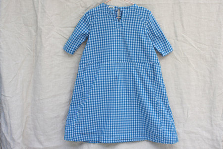 Kid's PietsieTangier Dress - Blue Gingham