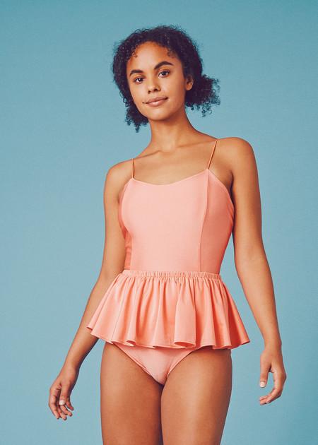 Samantha Pleet Puck Swimsuit - Cantaloupe