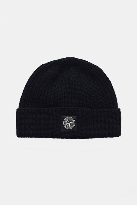Men's Stone Island Geelong Wool Beanie Cap - Black