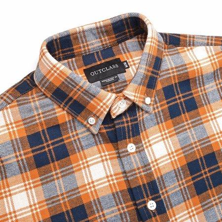 Outclass Pumpkin Plaid Double Sided Flannel Shirt - Pumpkin Plaid