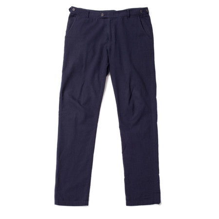 Corridor Seersucker Trousers - Navy