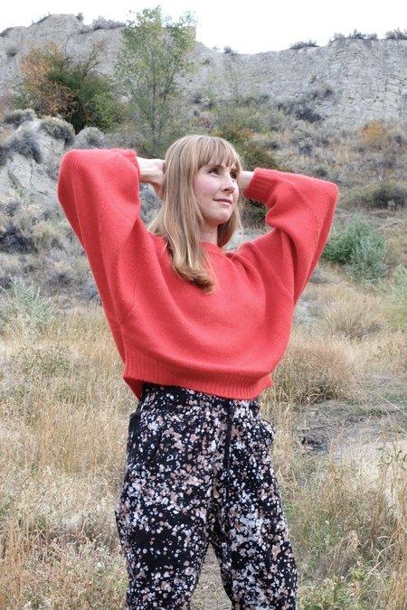 Atelier Delphine Balloon Sleeve Sweater - Apple