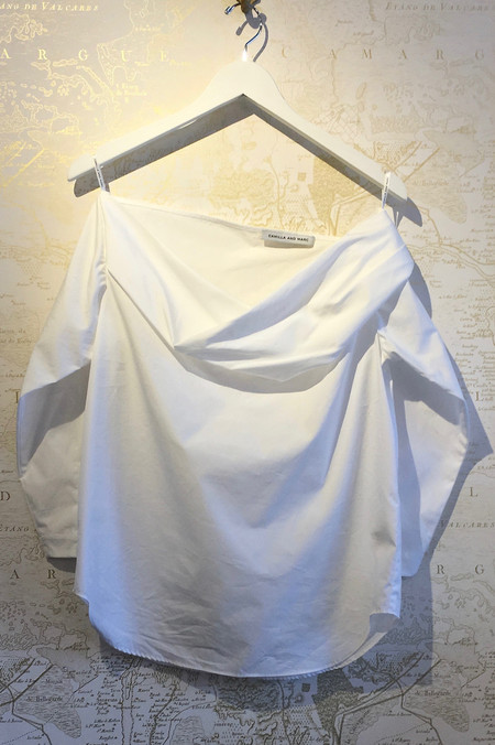 Camilla and Marc 'Hoskins' Folded Shoulder Cotton Blouse