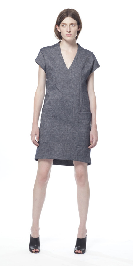 SCHAI Polygon Denim Dress