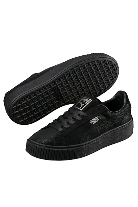 PUMA Basket Platform Reset Women's Sneakers- Black