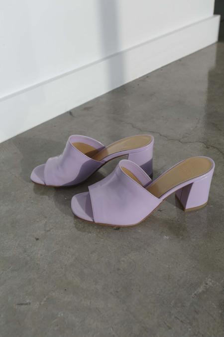Maryam Nassir Zadeh Mar Mule in Lavender Patent