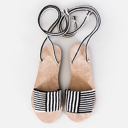 Someware Lace-Up Sandals - Louhu Black