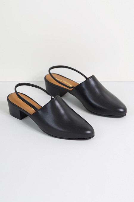 Anne Thomas Williamsburg Slingback Mule Black