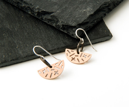 Camillette Bronze Random Half-Moon Earrings