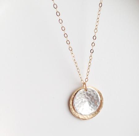 Katye Landry Double Disc Necklace