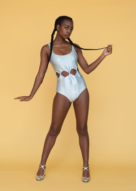 Samantha Pleet Tabernacle Swimsuit Silver