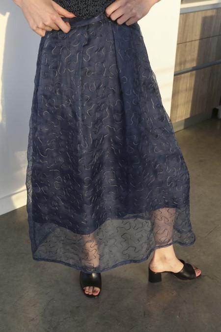 Nikki Chasin Fete Skirt in Navy