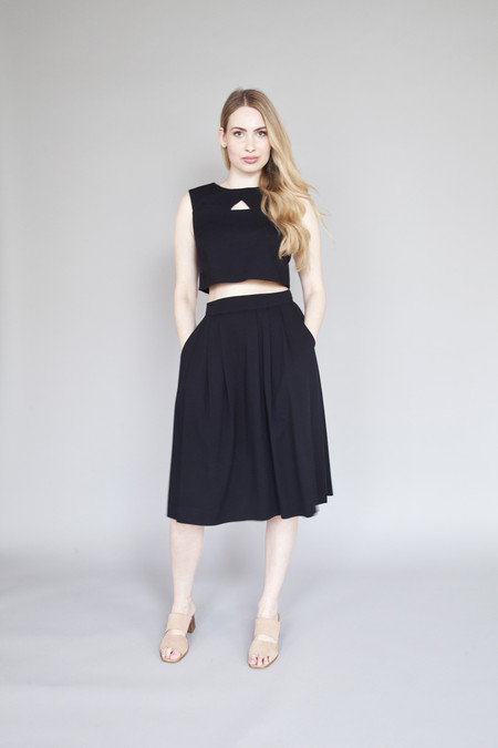 Birds of North America Godwit Skirt Black
