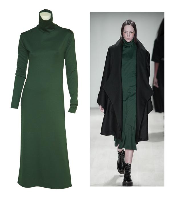 Brit Wacher turtleneck dress