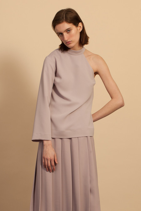 Nomia Cut-Out Shoulder Top - Mauve